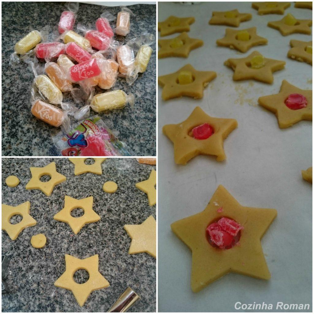 biscoito estrela de vidro