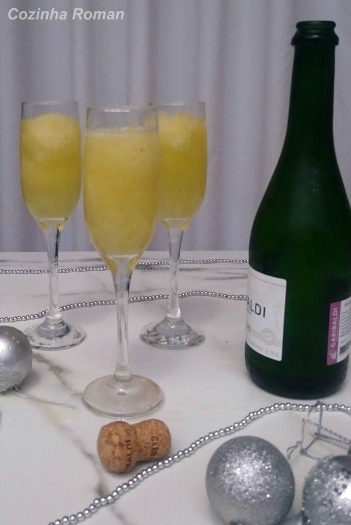 drink raspadinha com espumante